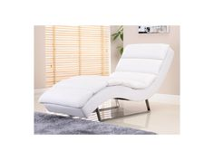 Chaise longue POKY en simili - blanc