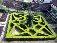 The Knot Garden at the Red Lodge Museum, Bristol.