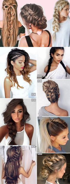 @ohlollas 22 fotos de penteados com tranças: penteados soltos, meio-preso, preso, coque, ponytail. Penteados para festa (madrinha de casamento, formatura), eventos formais e dia-a-dia. 22 best braided hairstyles summer 2017 for long hair end short hair. #braid #frenchbraid #tranças