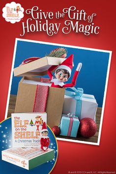 Buy The Elf on the Shelf and start a new Christmas tradition! Teacher Christmas Gifts, Christmas Elf, All Things Christmas, Christmas Ideas, The Elf, Elf On The Shelf, Elf Pets, Gypsy Home Decor, Farmhouse Christmas Decor