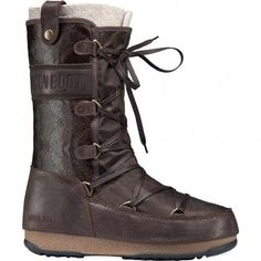 Womens Original Tecnica Moon Boot We Monaco Mix Snow Winter Waterproof Knee High Boots Dark Brown 65 -- Visit the image link more details. (This is an affiliate link) Ankle Boots Outfit Winter, Winter Boots Outfits, Mid Calf Boots, Knee High Boots, Insulated Boots, Moon Boots, Warm Boots, Snow Boots Women, Combat Boots