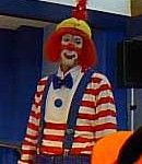 Assistant Director, college professor, and a truly great clown, Lee Mullaly, doing his Staff on Stage as Juggles. http://famousclowns.org/famous-clowns/clown-camp-1998/