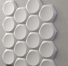 *retro* 3d Decorative Wall Panels 1 Pcs Abs Plastic Mold For Plaster Beneficial To The Sperm Ceramics & Pottery