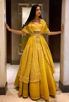 Beautiful Lehenga with Hand Embroidered blouse and dupatta, draped as jacket with waist handcrafts - galon Indian Wedding Outfits, Bridal Outfits, Indian Outfits, Winter Wedding Outfits, Indian Weddings, Indian Lehenga, Lehenga Saree, Lehenga Choli Designs, Look Fashion