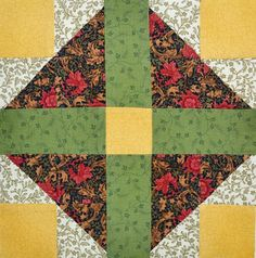 Chock-A-Block Quilt Blocks: Grandmother's Choice