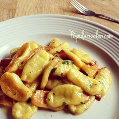 Paleo Gnocchi on www.PopularPaleo.com | This recipe uses tapioca flour instead of expensive almond flour for a budget-friendly option.