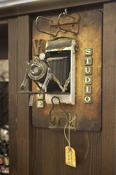 Vintage Studio...great collage of items.
