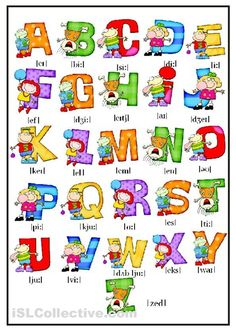 A collection of English ESL Alphabet worksheets for home learning, online practice, distance learning and English classes to teach about Learning English For Kids, English Lessons For Kids, Kids English, Teaching English, Learn English, English Time, English Alphabet Pronunciation, English Vocabulary, Alphabet Worksheets