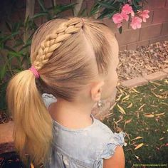 new dutch braid with ponytail little girls hairstyles for eid party 2017