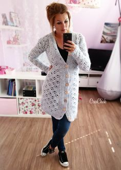 Outstanding 20 how to sew projects are available on our internet site. Have a look and you will not be sorry you did. Crochet Shirt, Crochet Jacket, Crochet Cardigan, Long Cardigan, Big Sweater, Crochet Needles, Crochet Yarn, Free Crochet, Winter Vest