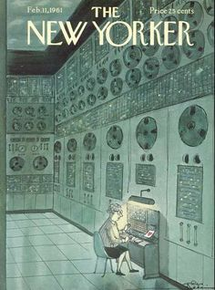 Illustration by Charles Addams for The New Yorker, February New Yorker Valentine The New Yorker, New Yorker Covers, Computer Love, Charles Addams, Magazine Art, Magazine Covers, Type Posters, Vintage Magazines, Mellow Yellow