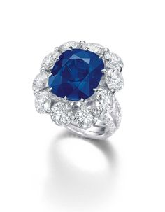 A Kashmir sapphire and diamond ring (20.04ct) was sold for US$2.6 million.