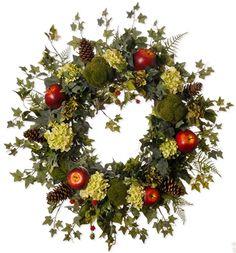 Lois' Hydrangea & Apple Wreath