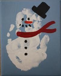 handprint snowman - Google zoeken