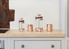 Barista & Co 3 Cup Plunge Pot - Electric Copper - French Press from Nixxee UK Copper French Press, Barista, Floating Nightstand, Place Card Holders, Furniture, Home Decor, Electric, Room, Products