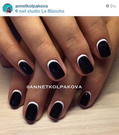 чёрный Short French Nails, Nail Care, Cute Nails, Art Ideas, Nail Designs, Hair Makeup, Hair Beauty, Make Up, Pretty Nails