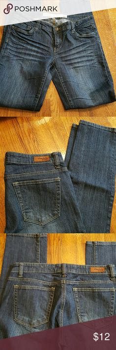 Charlotte Russe Everyday Skinny Charlotte Russe Everyday Skinny size 8R dark wash. Took tags off. Never worn. Didn't fit me like I wanted. 8 inch rise,  39 1/2 inches lenght plus or minus a bit. (Didn't have my glasses) Sorry! Will answer any questions. Charlotte Russe Jeans Skinny