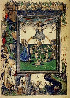 Book of Hours. Last Judgement. Dutch 15th cent. Bodl_Douce93