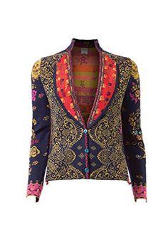 IVKO Jacket Floral Pattern with Pleats Marine EUR 38 - US 8 IVKO http://www.amazon.com/dp/B00O5DXIKM/ref=cm_sw_r_pi_dp_pnPqvb01P39Y7