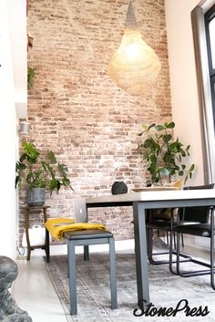 You are in the right place about Wall tiles Here we offer you the most beautiful pictures about the office Wall you are looking for. Brick Accent Walls, Old Brick Wall, Diy Bedroom Decor, Living Room Decor, Home Decor, Modern Industrial Decor, Brick Wallpaper, Brick And Stone, House In The Woods