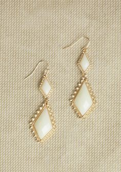 Sweet Opulence Earrings In Ivory at #Ruche @Ruche