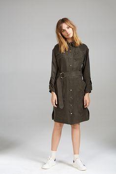 SILKY SHIRT DRESS Women Wear, Shirt Dress, Contemporary, Shirts, Accessories, Collection, Dresses, Style, Fashion