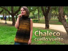 Chaleco Cuello Vuelto a crochet - YouTube Crochet Jacket, Crochet Cardigan, Sweater Cardigan, Pullover, Crochet Clothes, Crochet Patterns, Crochet Ideas, Youtube, Knitting