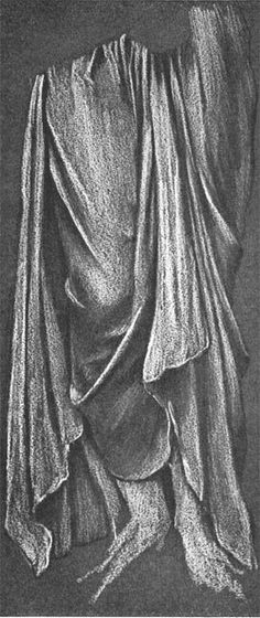 Study of Drapery by Evelyn de Morgan
