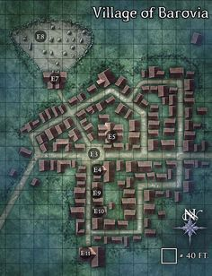 Map Inspiration: Idea for how to design a city, town, or village ...