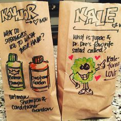 This Mom's Amazing Lunchbag Puns Are Giving The Internet Life.And Making Her Kids Groan Love Notes, Giving, Mom And Dad, Puns, Instagram Posts, How To Make, Lunch Bags, Life, Lunches