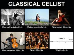 "From the series ""What you do vs. what they think you do"" here is one for CELLO by Mr. Paul Ghica from Chicago, IL    It would be cool to get the whole orchestra and see which instrument gets the most views :) If you created one yourself please share it with us as well so we can give credit to the right person"