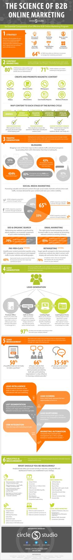 The science of B2B online marketing #infografia #infographic #marketing