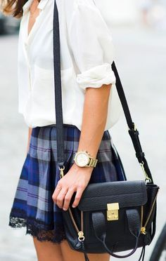 Gossip girl style! Preppy and girly, would've been perfect if the skirt was longer :/ church clothes