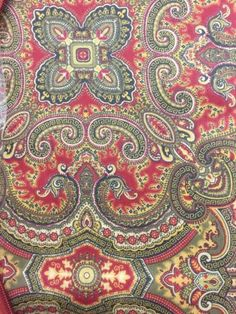 DOMAIN-Full-Queen-Equestrian-Paisley-Duvet-Set-Burgundy-Olive-Tan-NWT