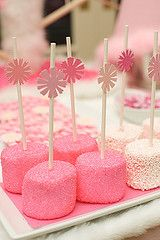 Flickr #pink #sugar #sprinkled #marshmallow #treats #princess #candy #party