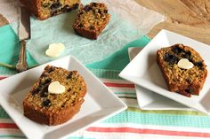 Blueberry Oatmeal Muffin Bread @FoodBlogs