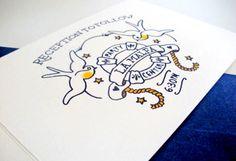 Oh So Beautiful Paper: Sailor Tattoo-Inspired Wedding Invitations