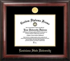 LSU Tigers Louisiana State Home Office Diploma Picture Frame