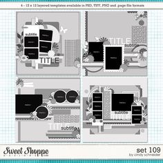 Cindy's Layered Templates - Set 109 by Cindy Schneider