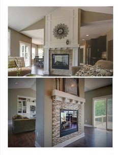 Two Sided Fireplace Idea. Muston Construction Inc.