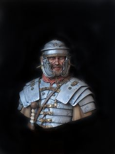My new job - 200mm Roman Legionarius ,made by Young Miniatures.  Tempera and acrylic metallics paints.