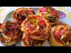 ΡΟΛΑΚΙΑ ΠΙΤΣΑΣ!!! - YouTube Pizza Rolls, Sweets Recipes, Greek Recipes, Bruschetta, Appetizers, Mexican, Ethnic Recipes, English, Food