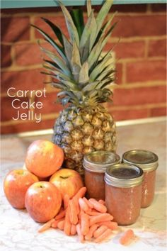 Homemade recipe for canned carrot jelly that tastes just like carrot cake.