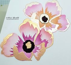 Periwinkle Creations: Altenew 3D peony dream dies. stretch your supply