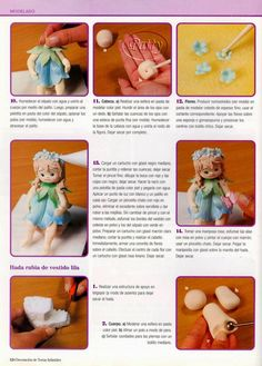 como hacer pasteles infantiles paso a paso   Revistas de manualidades gratis Fondant Figures Tutorial, Cake Decorating Tutorials, 1, Teddy Bear, Toys, Biscuit, Clay, Tips, Art Journals