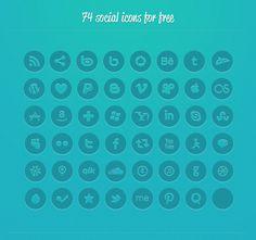 Social Media Icons font