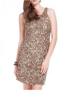 Aftershock Dresses-SERGEO embellished gold dress - £180.00