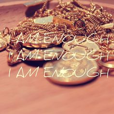 letting myself in on a secret i have kept from myself for way too long. as i am, i am enough. as i am, i wholesome. i am everything i've been waiting for. Let Me In, Let It Be, I Am Enough, Gold Jewelry, Jewellery, Waiting, Bangles, Pendants, Necklaces