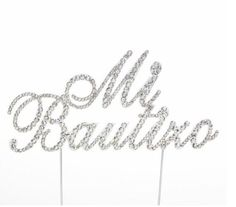 """Hello this is a very beautiful cake topper for your baptism. It reads """"Mi Bautizo"""" in Spanish. Baptism Favors, Elegant Cakes, Beautiful Cakes, Cake Toppers, Party Supplies, Letters, Decoration, Image, Ebay"""
