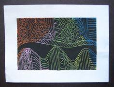 Abstract Scatch Art | TeachKidsArt
